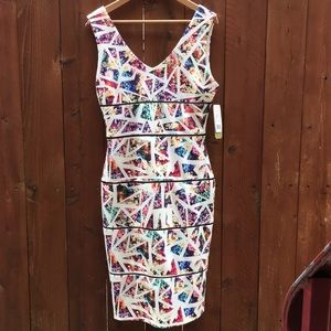 Nicole Miller Arterlier floral bodycon dress 10